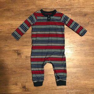 Baby boy Tea striped long sleeve romper